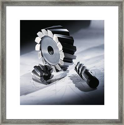 Drill & Cutting Bits Framed Print by Tek Image