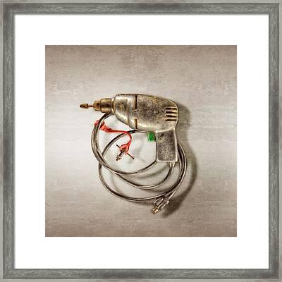 Drill Motor, Green Trigger Framed Print by YoPedro