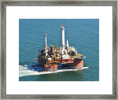 Drilling Rig Framed Print by Bill Perry