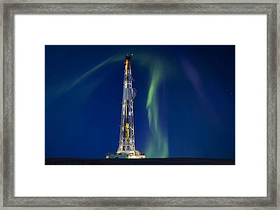 Drilling Rig Saskatchewan Framed Print by Mark Duffy