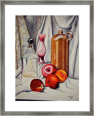 Drink And Fruit Framed Print by Ron Sylvia