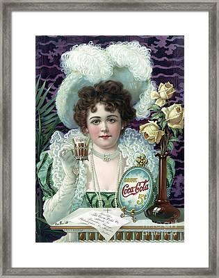 Drink Coca-cola, 1890s Framed Print
