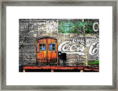 Framed Print featuring the photograph Drink Coca Cola  by Gray  Artus