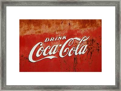 Drink Coca Cola  Framed Print by LeeAnn McLaneGoetz McLaneGoetzStudioLLCcom