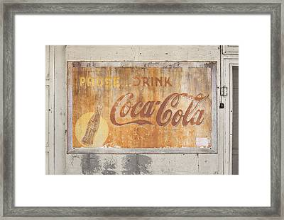 Framed Print featuring the photograph Drink Coca Cola by Mark Greenberg