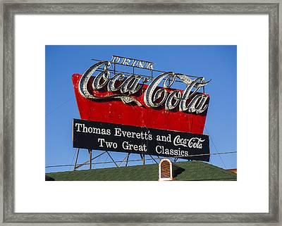 Drink Coca-cola Framed Print by Stephen Stookey