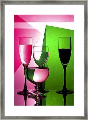 Drink  In Wine Glasses Framed Print by larisa Fedotova