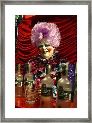 Drink Sir Maam Framed Print by Jez C Self