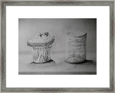 Drink Water After Cake Framed Print by Maria Woithofer