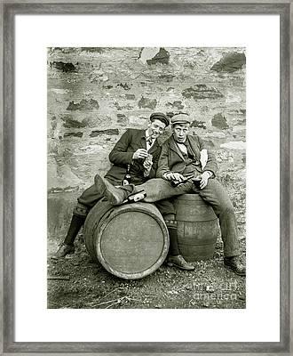 Drinking Buds Framed Print by Jon Neidert