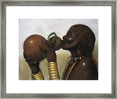 Drinking Gourd Framed Print by L Cooper