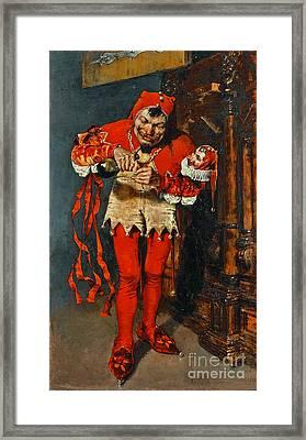 Drinking Jester 1875 Framed Print by Padre Art