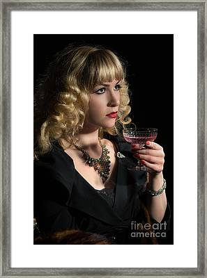 Drinking Pink Champagne Framed Print by Amanda Elwell