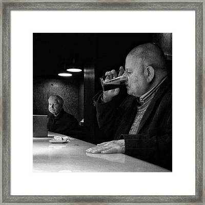 Drinking Señor (and Staring Framed Print