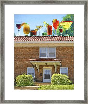 Drinks On The House Framed Print by Nikolyn McDonald