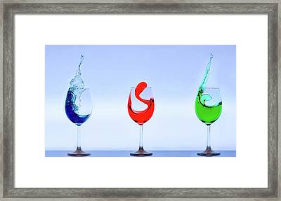 Drinks With Flair Framed Print