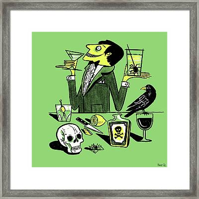 Drinks With The Mad Scientist Next Door Framed Print