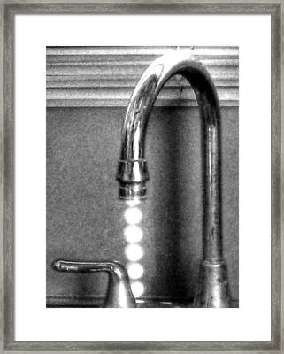 Framed Print featuring the photograph ...drip...drip...drip... by Steven Huszar