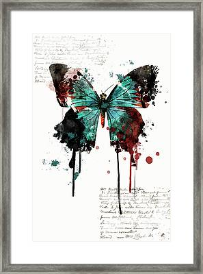 Dripping Butterfly Framed Print