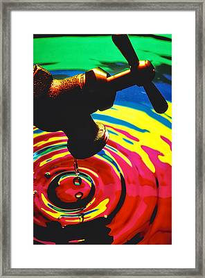 Dripping Faucet Framed Print by Garry Gay
