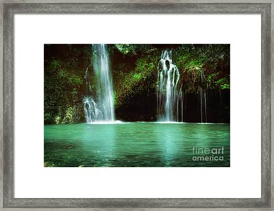 Dripping Springs In The Afternoon Framed Print by Tamyra Ayles