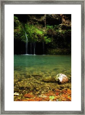 Dripping Springs Framed Print