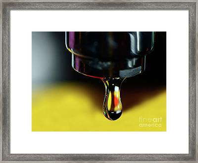 Dripping Tap By Kaye Menner Framed Print