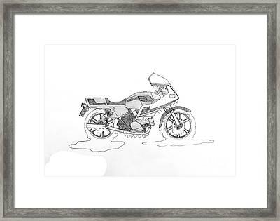 Drippy Ducati Pantah Framed Print by Stephen Brooks