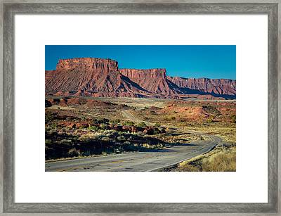 Drive Along Highway 128 Framed Print by Michael J Bauer