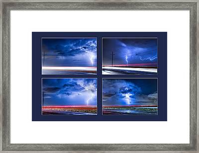 Drive By Lightning Strikes Progression Framed Print