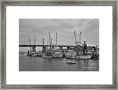 Drive By Tybee Island Shrimp Boat Art Framed Print by Reid Callaway