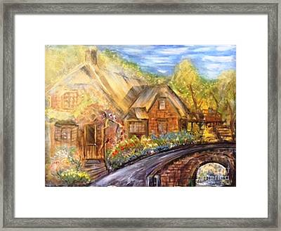 Drive Down Memory Lane Framed Print by Sue Williams