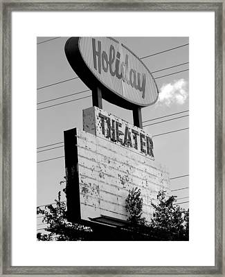 Drive-in Framed Print by Audrey Venute