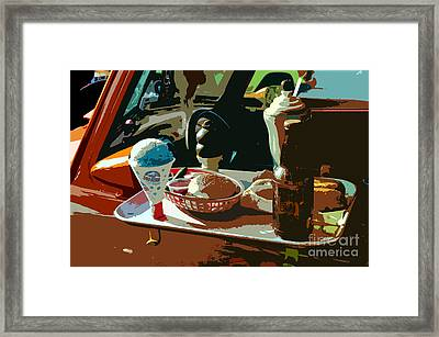 Drive In Framed Print by David Lee Thompson