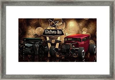 Framed Print featuring the photograph  Drive In by Louis Ferreira