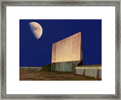 Drive-in Moon Framed Print by Dominic Piperata