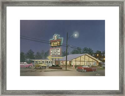 Drive-in Restaurant Framed Print