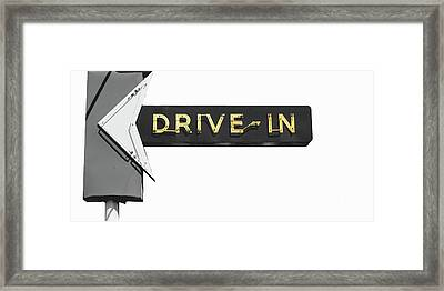 Drive-in Retro Sign Framed Print by Mindy Sommers