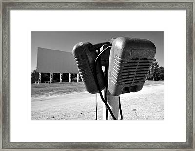 Drive In Speakers Framed Print by David Lee Thompson