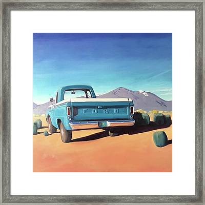Drive Through The Sagebrush Framed Print