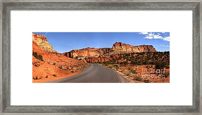 Drive Through The Waterpocket Fold Framed Print by Adam Jewell