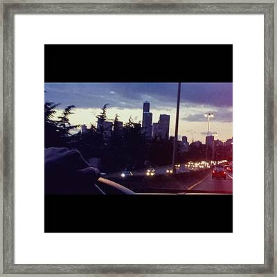 Drive Thru Seattle #enlight #highway Framed Print