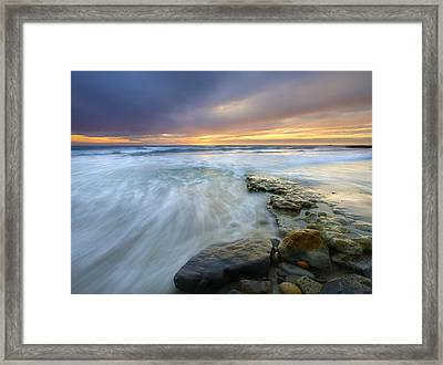 Driven Before The Storm Framed Print