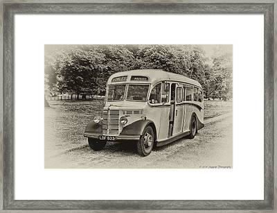 Driver In Trouble Framed Print by David J Knight