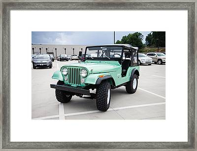 Drivers Front Fender View Framed Print