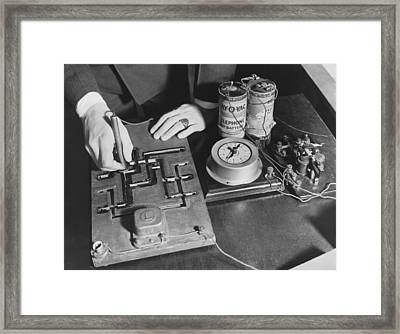 Drivers' Mental Test Framed Print by Underwood Archives