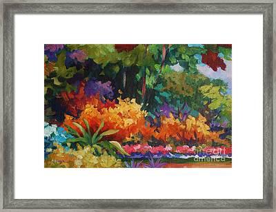 Driveway In Orange Framed Print by John Clark