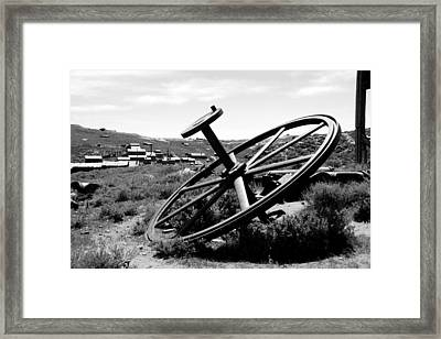 Drivewheel Framed Print by Michael Courtney