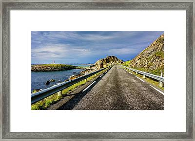 Framed Print featuring the photograph Driving Along The Norwegian Sea by Dmytro Korol
