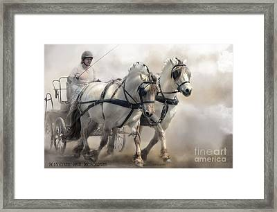 Driving Fjords Framed Print by Kathy Russell